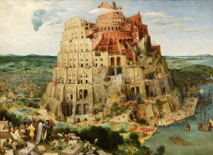 "Gemälde ""The Tower of Babel"" by Pieter Brueghel the Elder (1526/1530–1569)"