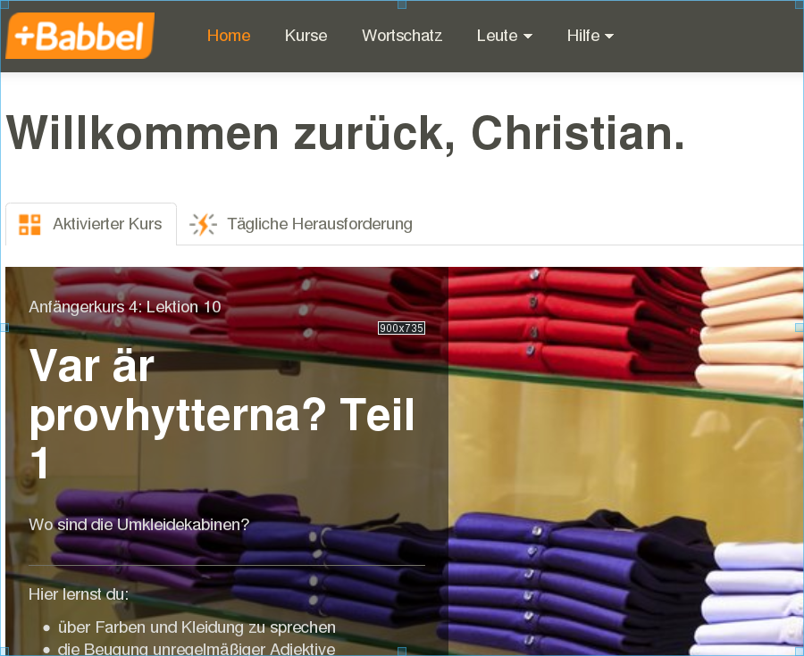 Screenshot Babbel